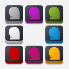 square button: head