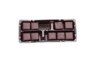 Box of chocolates candies.