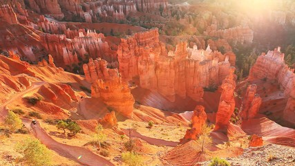 Sunlight glow at Bryce Canyon National Park