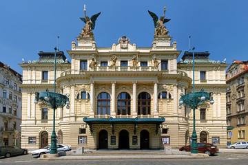 Vinohrady Theatre in Prague, Czech Republic