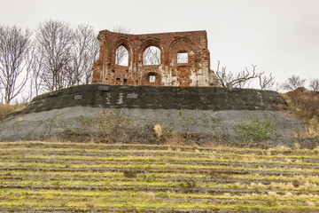 Ruins of gothic church from 14/15th century - Trzesacz near the