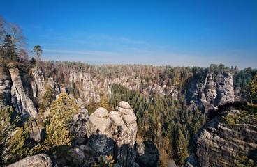 Das Elbsandsteingebirge in der Nähe von Dresden