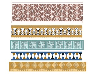 Set of five Babylonian patterns