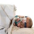 Man suffering from sleep apnea