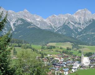 der bekannte urlaubsort Maria Alm im Salzburger Land