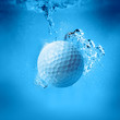 golf ball splash