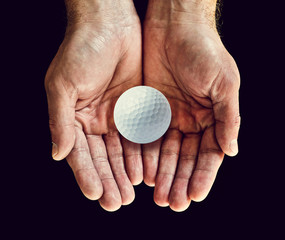 golf ball hands