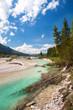 Flußbett der Isar im Karwendel