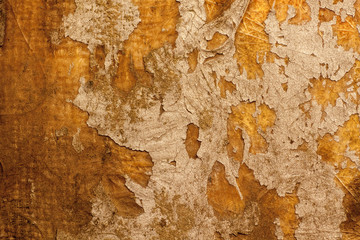 Eroded and grunge orange wall texture