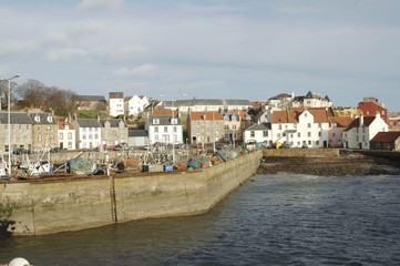 harbour boats and town of Pittenweem