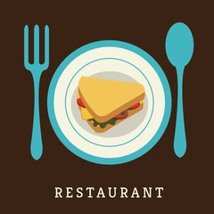 sandwich restaurant menu design. concept vector illustration
