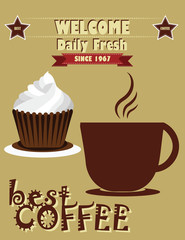 vintage coffee poster design. vector illustration.