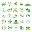 Eco Icons Set - Isolated On White Background