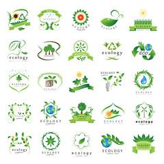 Eco Icons Set - Isolated On White Background