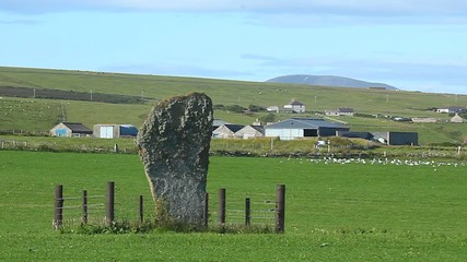 The Barnstone Standing Stone in Orkney, Scotland