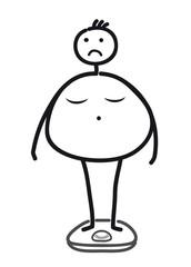 Diät - Gewicht auf Waage prüfen