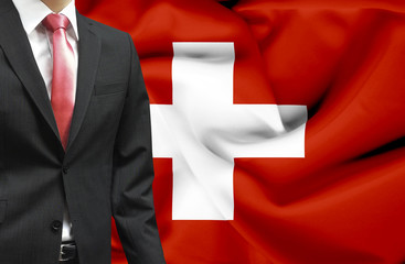 Businessman from Switzerland conceptual image