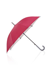 open red umbrella isolated on white background