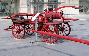 historical fire-cart