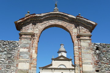 Portal of entry to the churchyard of St. Ambrose in Spigno
