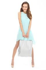 Zakupy, kobieta z torbą