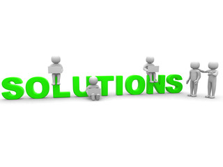 Finding solution. Conceptual business illustration. On white bac