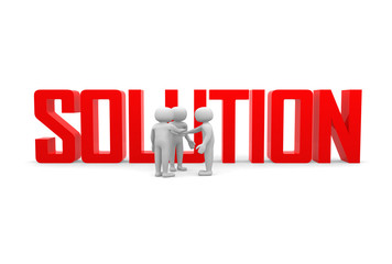Finding solution. Conceptual business illustration
