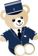 Ourson gendarme