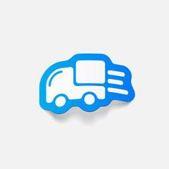 realistic design element: car, delivery