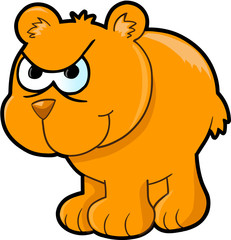Angry Bear Vector Illustration