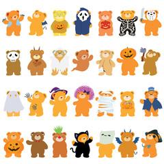 halloween bears in variety pack
