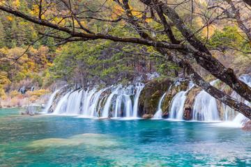 Beautiful Waterfall in Jiuzhaigou
