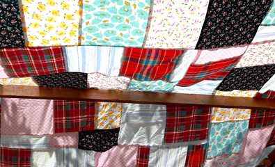 Patchwork awning