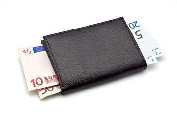 billetera con euros