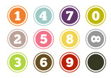 Colorful number buttons set - 65559666