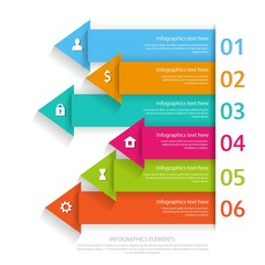 Modern business infographics abstract arrows. Vector