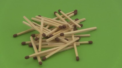 Pile of wooden matches.
