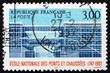 Postage stamp France 1997 National School of Bridges and Highway