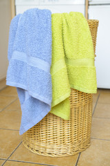 Basket with towels