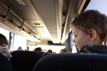 Kid in bus