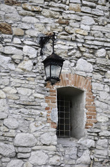 Stony wall with window. Olesko Castle
