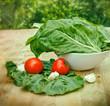 Fresh organic mangold - chard - spinach beet