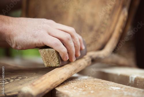 Wooden furniture restoration - 65563813