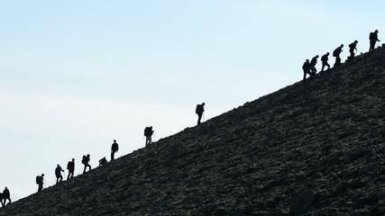 eğimli dağlarda  tırmanış