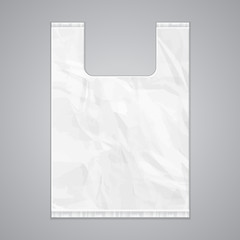 Disposable Plastic Bag Package Grayscale Template