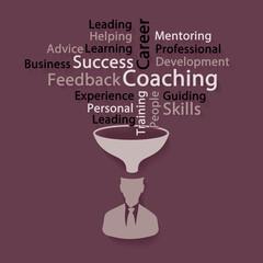 Success coaching word cloud illustration