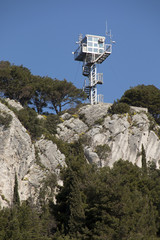 Watchtower on Marjan hill in town Split, Croatia