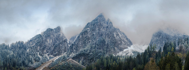 panoramic view on Dachstein Mountains. Tirol, Austria