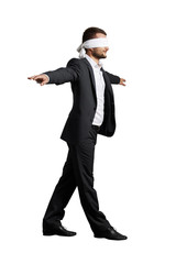man with the blindfold