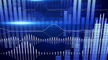 blue equalizer audio waveform loopable background